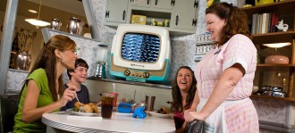 Customers Enjoy the 50s Prime Time Cafe at Disney's Hollywood Studios