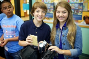 Disney Channel star Jake Short and Olivia Osteen, niece of Pastor Joel Osteen, team together for Blessings in a Backpack PSA to fight hunger.