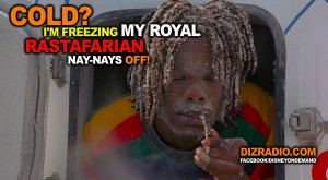 """Cold? I'm freezing my royal Rastafarian nay-nays off!"""