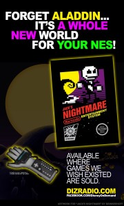 """Forget Aladdin...It's a Whole New World for Your NES!"" The Nightmare Before Christmas NES Game!"