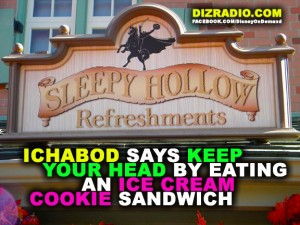 """Ichabod Says Keep Your Head By Eating an Ice Cream Cookie Sandwich"""