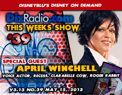 DisneyBlu's Disney on Demand Podcast Show #39 w/ Special Guest APRIL WINCHELL (Clarabelle Cow, Mrs. Finster, Peg Pete, Roger Rabbit)