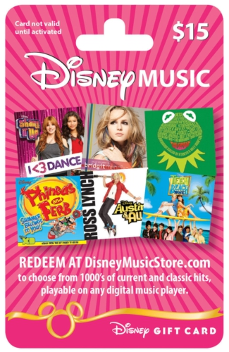Disney Music Gift Cards Now Available