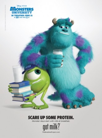 Mike and Sulley: Got Milk?