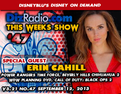 DisneyBlu's Disney on Demand Podcast Show #47 w/ Special Guest ERIN CAHILL (Power Rangers Time Force, WDW Happiest Celebration DVDs, Call of Duty Black Ops 2, Beverly Hills Chihuahua 2 & 3, Red Widow)
