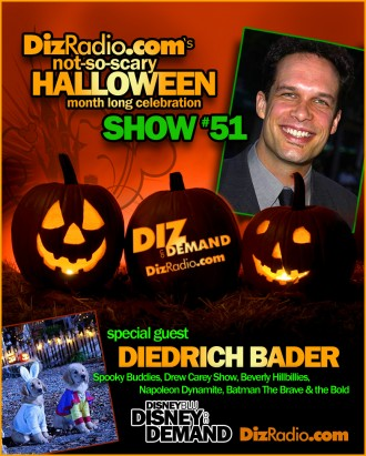 DisneyBlu's Disney on Demand Podcast Show #51 w/ Special guest DIEDRICH BADER (Napoleon Dynamite, The Drew Carey Show, Spooky Buddies, The Country Bears, Batman The Brave & the Bold, Beverly Hillbillies) on DizRadio.com