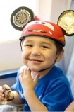 Steve Hopson, age 3, from Barrow, Alaska is battling Ewing's Sarcoma, a form of cancer. Steve is looking forward to meeting his favorite Disney characters Mickey Mouse and Lightning McQueen.