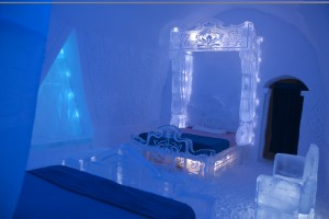 The Frozen-inspired suite at Quebec City's famed Hôtel de Glace