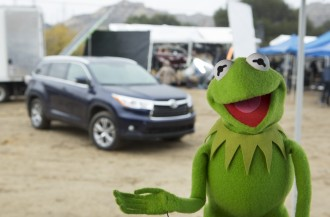 Kermit on the Toyota Set for the new Super Bowl Spot