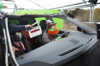 The Muppets On the Toyota Commercial Set