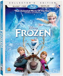 "Disney's Frozen arrives on Blu-ray Combo Pack on March 18th! Includes the Original Theatrical Short ""Get a Horse!"