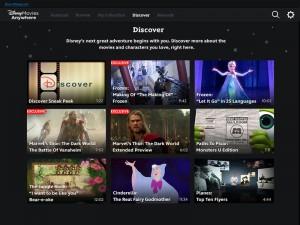 Disney Movies Anywhere App Interface