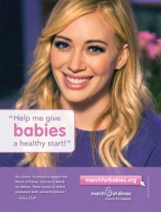 Hilary Duff Featured in March for Babies Campaign