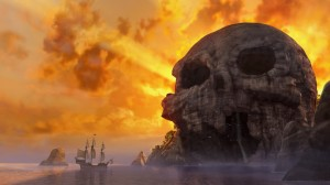 Skull Rock takes shape and pays tribute to Pan's home in The Pirate Fairy