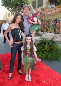 "TV personality Samantha Harris (L) and family attend the World Premiere of Disney's ""The Pirate Fairy"""