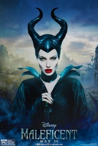 Angelina as the Baddie Maleficent