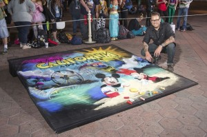 Noah and some Amazing Disney Sidewalk Art
