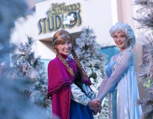 Anna and Elsa from Frozen Head to Hollywood Studios