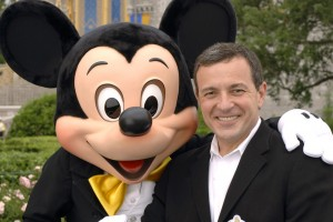Bob Iger and Mickey Mouse (Gene Duncan, photographer)