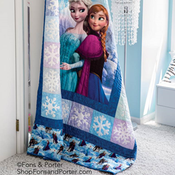 AccuQuilt Designs New GO! Snowflakes Die for Disney's Frozen Sisterly Love Quilt