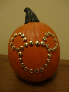 Studded Mickey Mouse Pumpkin