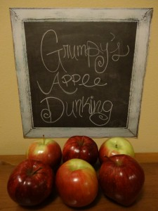 Grumpy's Apple Dunking