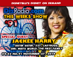 DisneyBlu's Disney on Demand Podcast Show #91 w/ Special Guest JACKEE HARRY (Sister Sister, 227, Ladybugs, Girl Meets World, The First Family) on DizRadio.com