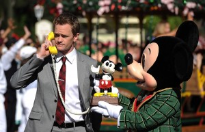 Neil Patrick Harris and Mickey Mouse Durign the Opening Number of the 2013 Christmas Day Parade