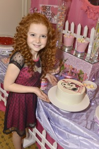 The party featured a yummy cake adorned with a special Belle DecoPac decoration on top
