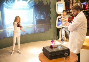 Kids playing with Playmation Marvel's Avengers at Disney Store on Tuesday, July 7, 2015 in Glendale, Calif. Playmation is a new system of toys and wearables that uses smart technology to inspire kids to run around and use their imaginations, as they become the hero or heroin of stories from Marvel's Avengers. (Photo by Colin Young-Wolff/Invision for Disney/AP Images)