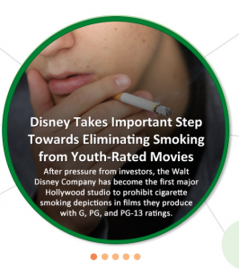 As you Sow: Disney takes the lead on Eliminating Smoking from Youth Films