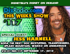 DisneyBlu's Disney on Demand Podcast Show #117 w/ Special Guest JESS HARNELL (Animaniacs, Doc McStuffins, Sofia the First, Splash Mountain, Transformers, America's Funniest Home Videos, Musician) on DizRadio.com