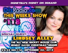 DisneyBlu's Disney on Demand Podcast Show #118 w/ Special Guest LINDSEY ALLEY (The All-New Mickey Mouse Club, Ernest Saves Christmas, Singer, Comedy) on DizRadio.com