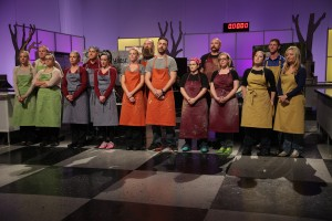 Contestants Compete in the new Food Network Season of Halloween Wars