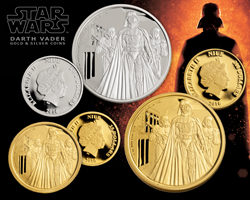 The Force is strong in this one: GovMint.com releases exclusive legal-tender Darth Vader gold & silver coins