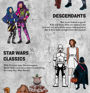 spirit halloween shows off the hottest looks costume trends for halloweekend 2015 including disney princesses star wars and more