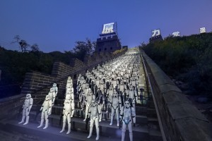 Star Wars: The Force Awakens on the Great Wall of China