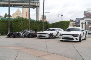 Star Wars fans can get their pictures taken with First Order Stormtrooper or Kylo Ren inspired Dodge Cars