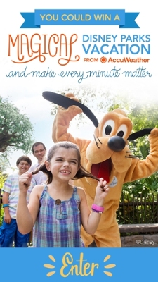 "AccuWeather Invites Fans to Make Every Minute Magical in ""Every Minute Matters"" Sweepstakes, with Chance to Win a Magical Disney Parks Vacation"