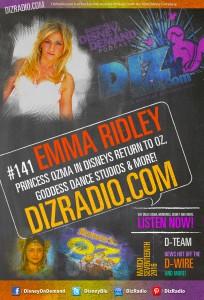 DisneyBlu's Disney on Demand Podcast Show #141 w/ Special Guest EMMA RIDLEY (Ozma in Disney's Return to Oz, Goddess Dance) on DizRadio.com