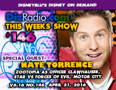 Nate Torrence (Officer Clawhauser in Disney's Zootopia)