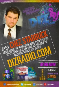 Special Guest CHEZ STARBUCK (The Thirteenth Year, MTV's Undressed, Pop Artist, Even Stevens, Mary-Kate and Ashley Olsen's School Dance Party) on DizRadio.com