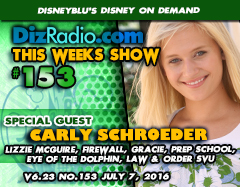 CARLY SCHROEDER (Melina on Lizzie McGuire, Firewall, Gracie, Prep School, Ghost Whiperer, Eye of the the Dolphin, Law & Order SVU and more) on DizRadio.com