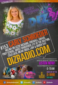 Disney on Demand Podcast Show #153 w/ Special Guest CARLY SCHROEDER (Melina on Lizzie McGuire, Firewall, Gracie, Prep School, Ghost Whiperer, Eye of the the Dolphin, Law & Order SVU and more)