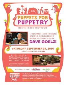 Jim Henson Company Hosts, Puppets for Puppetry Fundraiser with Host Dave Goelz