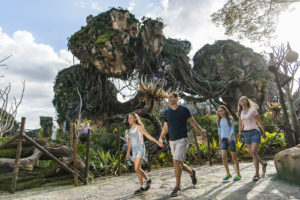 Floating mountains grace the sky in the new world of Pandora at Animal Kingdom (Matt Stroshane, photographer)