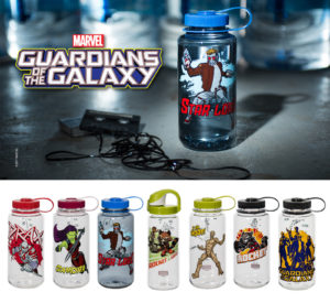Nalgene Outdoor introduces a new universe of its popular reusable bottles inspired by Guardians of the Galaxy
