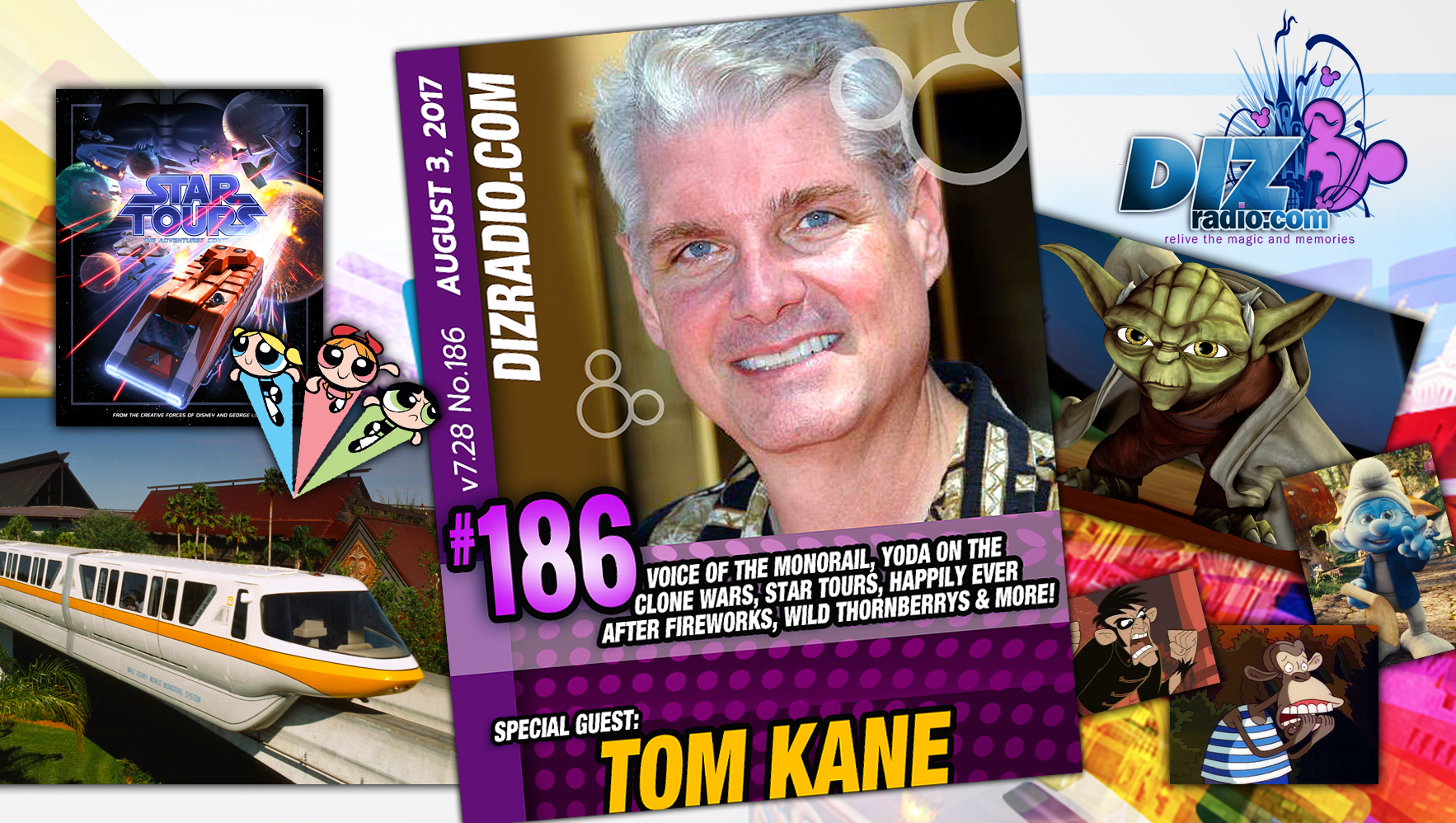 Tom Kane (Yoda, Voice of Monorail, Wild Thornberrys, Kim Possible, Star Tours, Smurfs, and more)