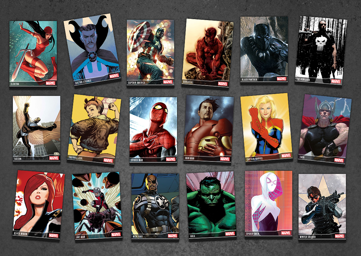 Captain America, Iron Man, Spider-Man, Jessica Jones, Daredevil and more are now available as limited-edition digital stickers, GIFs and cards.
