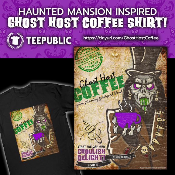 Haunted Mansion Inspired 'Ghost Host Coffee' Label Clothing Released